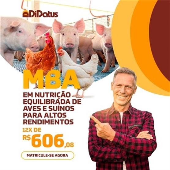 MBA EM NUTRIÇÃO EQUILIBRADA DE AVES E SUÍNOS PARA ALTOS RENDIMENTOS