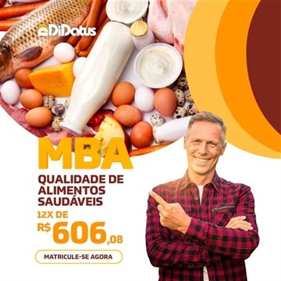 MBA FOCADA EM QUALIDADE E ALIMENTOS SAUDÁVEIS